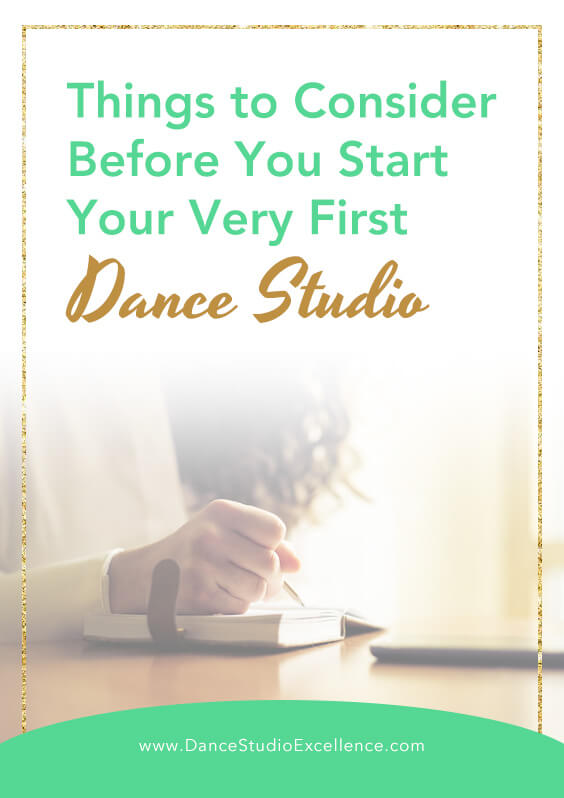 Things to consider before you start your first dance studio